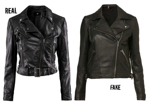 Real and Fake Leather