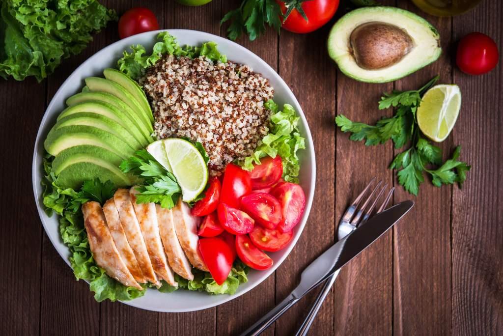 organic food salad vegetables